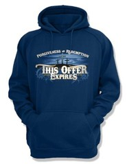 This Offer Expires, Hooded Sweatshirt, Navy, X-Large