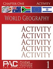 PAC World Geography Chapter 1, Activities
