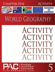 World Geography, Chapter 5, Activities