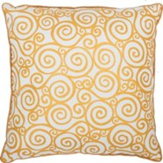 Gold Swirl/Polka Dot Pillow