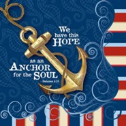 Hope as an Anchor, Nautical Napkin