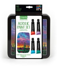 Crayola, Acrylic Paints with Tin, 16 Pieces