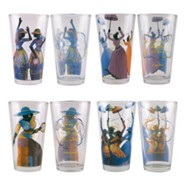 Ladies Drinking Glass Set of 4