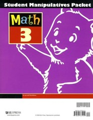 BJU Math 3 Student Manipulatives Packet, Third Edition