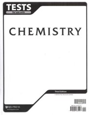 BJU Chemisty Grade 11 Tests, Third Edition