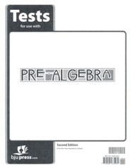 BJU Pre-Algebra Grade 8 Tests Packet (Second Edition)