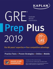 GRE Prep Plus 2019: Practice Tests, Proven Strategies, Online, Video, Mobile