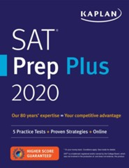 SAT Prep Plus 2020: 5 Practice Tests, Proven Strategies, Online