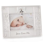 Jesus Loves Me Photo Frame with Cross