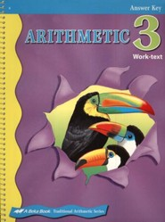 Abeka Arithmetic 3 Work-text Answer Key
