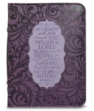 For I Know the Plans I Have For You Bible Cover, Purple, Medium