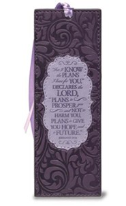 For I Know the Plans I Have For You Bookmark, Purple