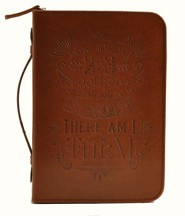 Matthew 18:20 Bible Cover, Brown, Medium