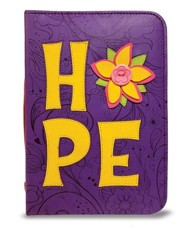 Hope Bible Cover, Purple and Yellow, Large