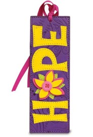 Hope Bookmark, Purple and Yellow
