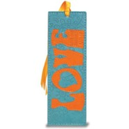 Love Bookmark, Teal and Orange