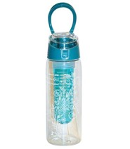 A Woman, Infuser Water Bottle, Aqua