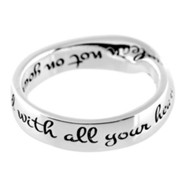 Proverbs 3:5 Mobius Ring, Size 7