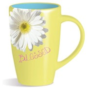 Blessed, Daisy Mug, Yellow