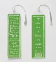 Faith Bookmark, Green