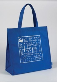 Hope Tote Bag, blue