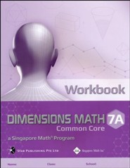 Dimensions Math Workbook 7A