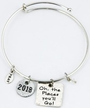 2018 Graduation Bangle Bracelet with Cap Gift Box