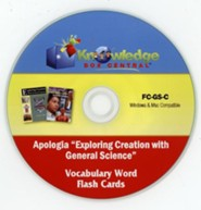Apologia Exploring Creation With General Science (1st & 2nd Editions) Vocabulary Word Flash Cards PDF CD-ROM