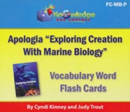 Apologia Exploring Creation With Marine Biology Vocabulary Word Flash Cards (Printed)