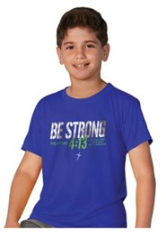 Be Strong Shirt, Blue, Youth Small
