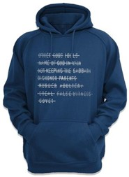 Top Ten Command Hooded Sweatshirt, Navy, Small