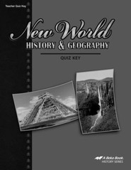 Abeka New World History & Geography Quizzes Key