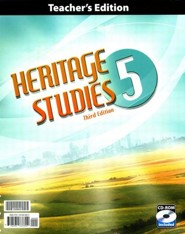 BJU Heritage Studies Grade 5 Teacher's Edition with CD-ROM   Third Editon