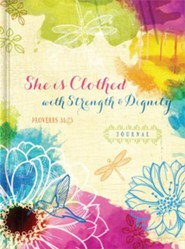 She is Clothed with Strength & Dignity Journal  -