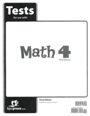 BJU Math Grade 4 Tests Pack (Third Edition)