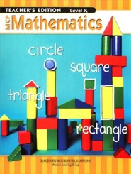 MCP Mathematics Level K Teacher's Edition (2005 Edition)