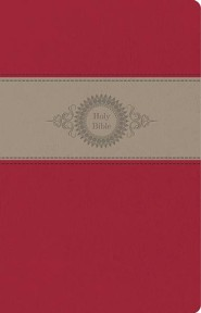 Imitation Leather Red / Tan Book Black Letter