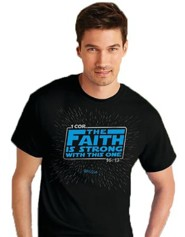 Faith Is Strong Shirt, Black, Large