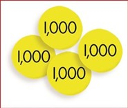 100 Thousands (1,000) Place Value Discs Set