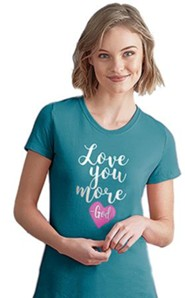 Love You More Shirt, Blue, Small