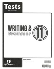 BJU Press Writing & Grammar Grade 11 Test Pack, Third Edition