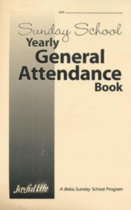 Sunday School Yearly General Attendance Book