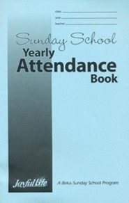 Sunday School Yearly Attendance Book
