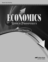 Abeka Economics: Work & Prosperity Quiz/Test Key