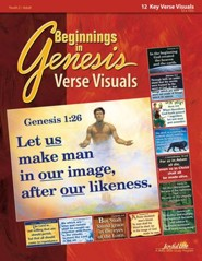 Beginnings in Genesis Ch. 1-11: Creation, Flood, Babel Youth to Adult Bible Study, Key Verse Visuals