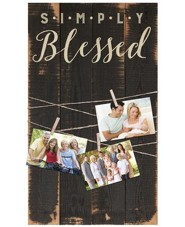 Simply Blessed Photo Clipboard