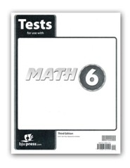 BJU Math Grade 6 Test Pack, Third Edition