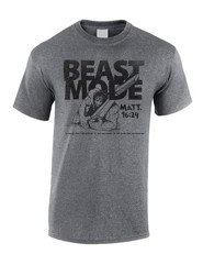 Beast Mode Shirt, Gray, Medium