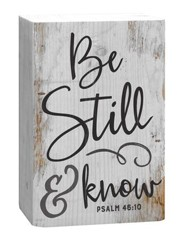 Be Still & Know, Plaque