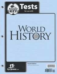 BJU World History Test Key, Grade 10, 4th Edition